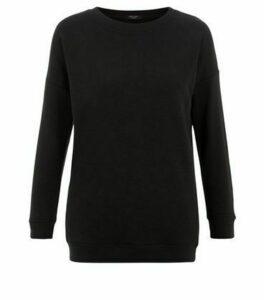 Petite Black Sweatshirt New Look