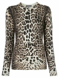 Samantha Sung leopard knit jumper - NEUTRALS