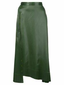 3.1 Phillip Lim asymmetric midi skirt - Green