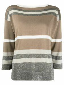 Fabiana Filippi striped knit jumper - NEUTRALS