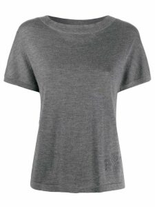 Barrie knitted cashmere T-shirt - Grey