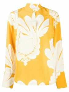 La Doublej pineapple print silk shirt - Yellow