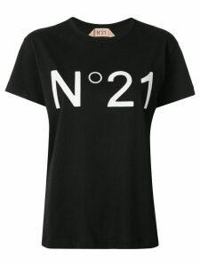 Nº21 logo-appliqué crew-neck T-shirt - Black