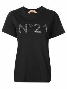 Nº21 collage print logo T-shirt - Black