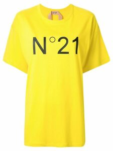Nº21 printed logo oversized T-shirt - Yellow