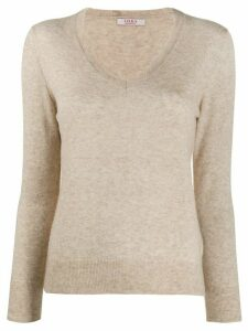 Liska V-neck jumper - NEUTRALS
