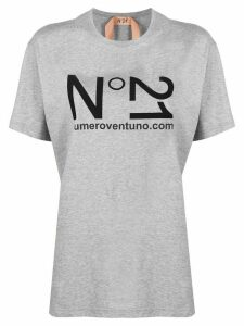 Nº21 logo print short-sleeved T-shirt - Grey