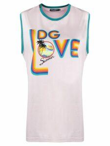 Dolce & Gabbana DG love print tank top - PINK