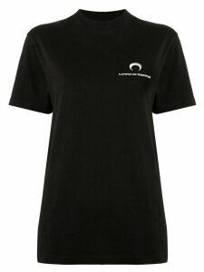 Marine Serre crescent moon-print layered T-shirt - Black