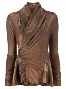 Rick Owens Lilies wrap fitted jacket - ORANGE
