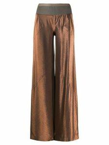 Rick Owens Lilies wide-leg metallic trousers - ORANGE