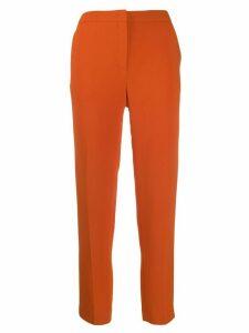 Escada slim-fit cropped trousers - ORANGE