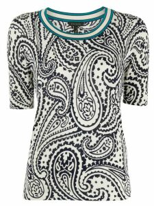 Escada knitted paisley-print top - Blue