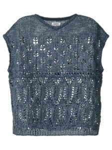 Coohem Summer crochet knit top - Blue