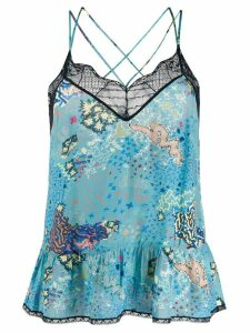 Zadig & Voltaire embroidered camisole top - Blue