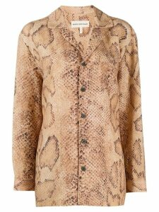 Mara Hoffman snakeskin pirint shirt - Brown