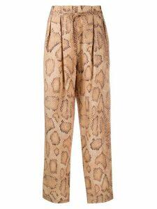 Mara Hoffman snake-skin print trousers - NEUTRALS