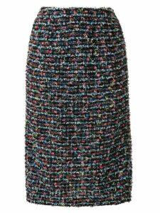 Coohem straight fit tweed skirt - Black