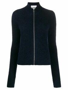 GANNI zip-up jumper - Blue