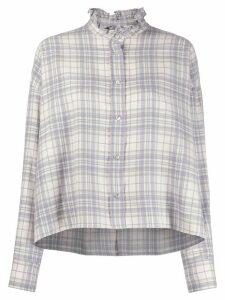 Isabel Marant Étoile Ilaria high-neck checked shirt - PURPLE