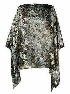Etro floral-print chiffon tunic - Black