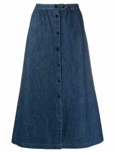 A.P.C. denim A-line skirt - Blue