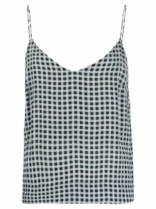 GANNI gingham cami top - Blue