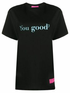 irene is good You Good cotton hoodie - Black