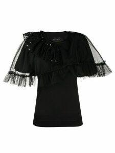 Simone Rocha embellished tulle details blouse - Black