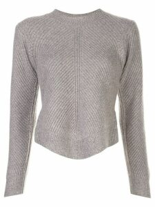 Co chevron ribbed jumper - Grey