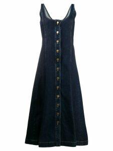 L'Autre Chose denim a-line dress - Blue