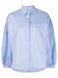LIU JO striped boxy-fit shirt - Blue