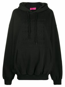 IRENEISGOOD Goodforyou embroidered cotton hoodie - Black