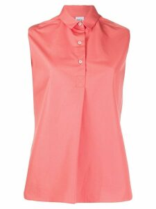 Aspesi sleeveless button down shirt - PINK