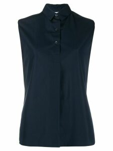 Aspesi sleeveless button down shirt - Blue