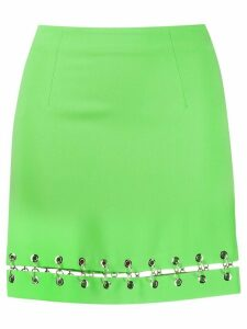 IRENEISGOOD ring-embellished split skirt - Green