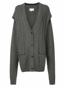 Maison Margiela multi-wear cardigan - Grey