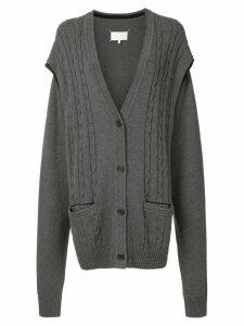 Maison Margiela multi-wear cardigan - Grey