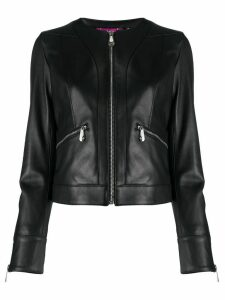 Philipp Plein zipped leather jacket - Black