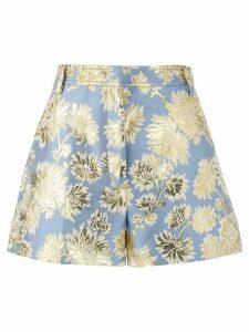 Nº21 floral jacquard shorts - Blue