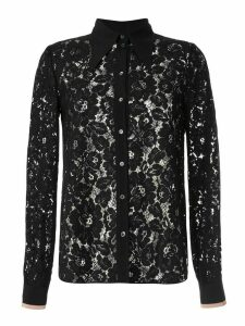 Nº21 floral lace shirt - Black