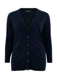 Navy Blue Button Cardigan, Navy