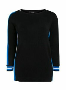 Navy Blue Side Stripe Jumper, Navy