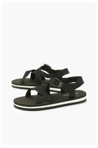 Womens Sports Multi Strap Sandals - black - 8, Black