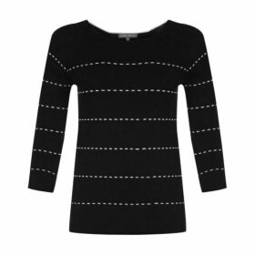 Black Dot Stripe Jumper
