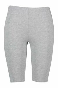 Womens Plus Jersey Longline Cycle Short - Grey - 18, Grey