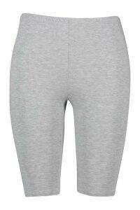 Womens Plus Jersey Longline Cycle Short - grey - 20, Grey