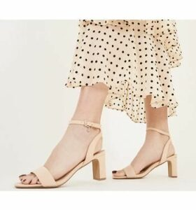 Office Make-over- Block Heel Sandal NUDE
