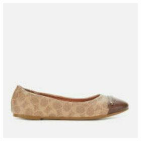 Coach Women's Brandi C Button Ballet Flats - Saddle/Tan - UK 7