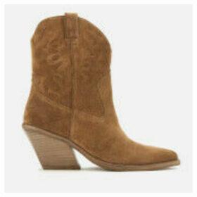 Bronx Women's Low Kole Suede Western Boots - Cognac